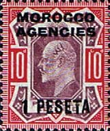 Stamp Stamps Morocco Agencies Spanish Currency 1907 SG 120 King Edward VII Fine Mint Scott 42