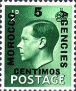 Morocco Agencies Spanish Currency 1936 Edward VIII SG 160 Fine Mint