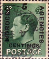 Stamp Stamps Morocco Agencies Spanish Currency 1936 Edward VIII Set Fine Used SG 160 Scott 78
