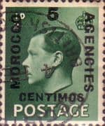 Morocco Agencies Spanish Currency 1936 Edward VIII SG 160 Fine Used