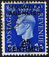 Stamp Stamps Morocco Agencies Spanish Currency 1937 SG 168 King George VI Fine Used Scott 86