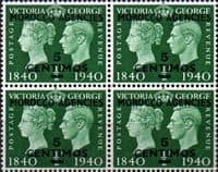 Morocco Agencies Spanish Currency 1940 Stamp Centenery SG 172 Fine Mint Block of 4
