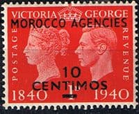 Morocco Agencies Spanish Currency 1940 Stamp Centenery SG 173 Fine Mint