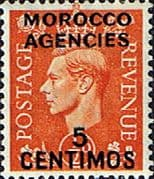 Morocco Agencies Spanish Currency 1952 SG 182 King George VI Fine Mint