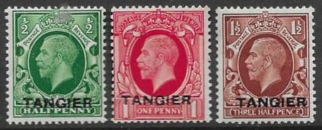 Morocco Agencies TANGIER 1934 Set King George VI Fine Mint