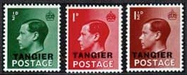 Stamps of Morocco Agencies TANGIER 1936 King Edward VII Set Fine Mint