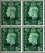 Morocco Agencies TANGIER 1940 SG 245 King George VI Fine Mint Block of 4