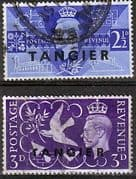 Morocco Agencies Tangier 1946 King George VI Victory Set Fine Used