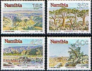 Postage Stamp Stamps Namibia 1990 Landscapes Set Fine Mint