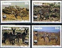 Namibia 1991 World Wild Life Fund Endangered Species Set Fine Mint