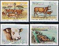 Namibia 1993 Animals Simmentaler Cattle Set Fine Mint