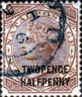 Natal 1891 Queen Victoria Surcharged SG 109 Fine Used