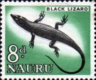 Nauru 1963 SG 60 Black Lizard Fine Mint