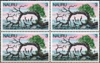 Nauru 1978 Definitive SG 176 Fine Mint Block of 4