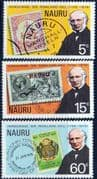 Nauru 1979 Sir Rowland Hill Set Fine Mint