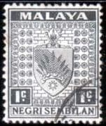 Negri Sembilan 1935 Coat of Arms SG 21 Fine Used