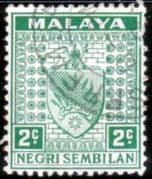 Negri Sembilan 1935 Coat of Arms SG 22 Fine Used