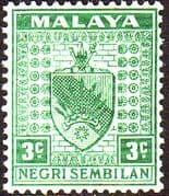 Negri Sembilan 1935 Coat of Arms SG 24 Fine Mint