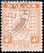 Negri Sembilan 1935 Coat of Arms SG 25 Fine Used