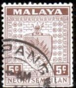 Negri Sembilan 1935 Coat of Arms SG 26 Fine Used