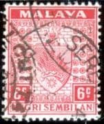 Negri Sembilan 1935 Coat of Arms SG 27 Fine Used