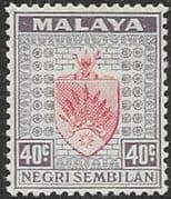 Negri Sembilan 1935 Coat of Arms SG 35 Fine Mint