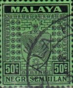Negri Sembilan 1935 Coat of Arms SG 36 Fine Used
