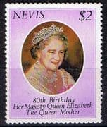 Nevis 1980 Queen Mothers 80th Birthday Fine Mint