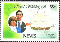 Nevis 1981 Charles and Diana Royal Wedding SG72 Fine Mint