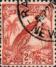Stamps Papua New Guinea 1932 SG 179 Raggiana Bird of Paradise Scott 33