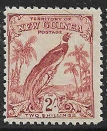 Stamps Papua New Guinea 1932 SG 186 Raggiana Bird of Paradise Scott 42 Good Used