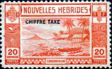 New Hebrides 1938 Post Due SG FD67 French Good Mint