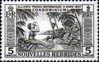 New Hebrides 1957 SG F106 French Fine Mint