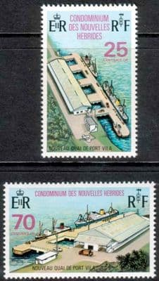 New Hebrides 1973 Opening of New Wharf at Villa Set French Fine Mint