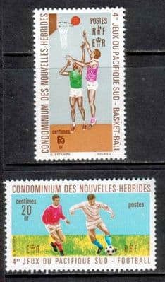 New Herbides 1971 Pacific Games Set French Fine Mint