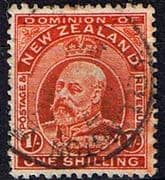 New Zealand 1909 SG 394 King Edward VII Head Fine Used