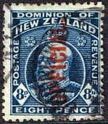 New Zealand 1910 King Edward VII Official SG O76 Fine Used