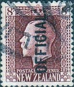 New Zealand 1915 King George V Official SG O103 Fine Used