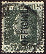 New Zealand 1915 King George V Official SG O89 Fine Used
