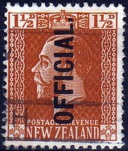New Zealand 1915 King George V Official SG O91 Fine Used