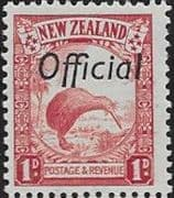 New Zealand 1936 Pictorial Official SG O121a Fine Mint
