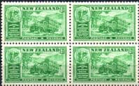New Zealand 1936 Wellington Chamber of Commrce Conference SG 593 Fine Mint Block of 4