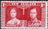 New Zealand 1937 Coronation SG 599 Fine Mint