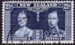 New Zealand 1937 Coronation SG 600 Fine Used