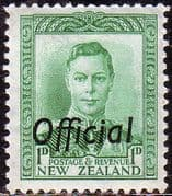 New Zealand 1938 King George VI Official SG O137 Fine Mint