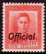 New Zealand 1938 King George VI Official SG O139 Fine Mint