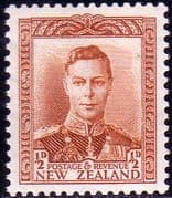 New Zealand 1938 King George VI SG 604 Fine Mint