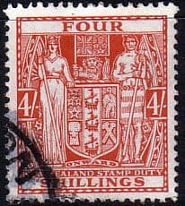 New Zealand 1940 Arms Postal Fiscal SG F194 w Fine Used