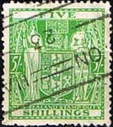 New Zealand 1940 Arms Postal Fiscal SG F195w Fine Used