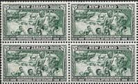 New Zealand 1940 Centenary SG 613 Fine Mint Block of 4